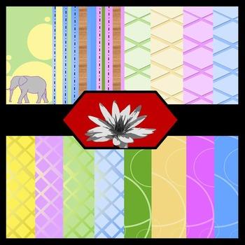 Pastel-ephant {Digital Paper Background Set}