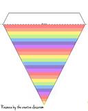 Pastel rainbow striped bunting