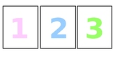 Pastel themed number cards
