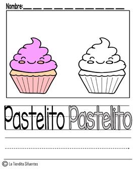 Pastelito Desarrollo de Escritura Bilingüe (Cupcake)
