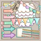 Pastelbox - Cliparts Text Decoration Pastel Color