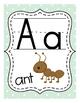Pastels: Mint & Coral Alphabet Posters