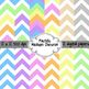 Pastels Spring CHEVRON Digital Background Papers 12x12