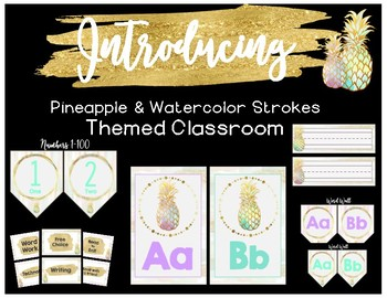 Pastels and Pineapples- Classroom Collection  BUNDLE