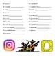 Pastimes/ Activities Vocabulary List