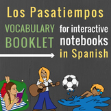 Pastimes and Action Verbs Booklet in Spanish for Interactive Notebooks
