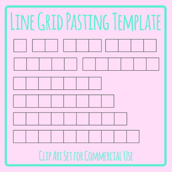 Pasting Grids Lines - For Pasting Answers etc. Clip Art for Commercial Use