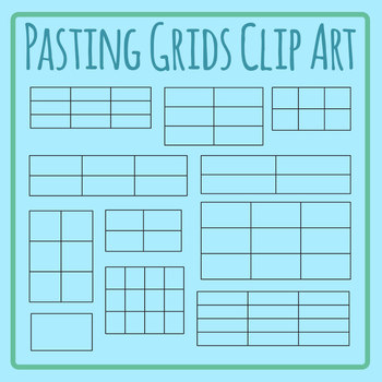 Pasting Grids - Pasting Multiple Answers Clip Art Set for Commercial Use
