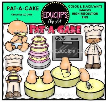 Pat A Cake Nursery Rhyme Clip Art Bundle {Educlips Clipart}