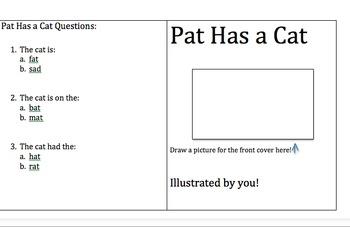 Pat Has a Cat mini book