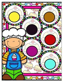 Pat-a-Cake Color Match File Folder Game