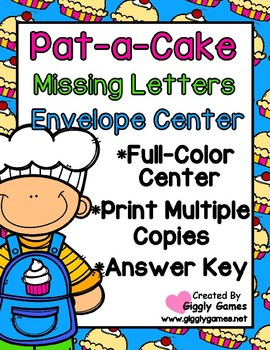 Pat-a-Cake Missing Letters Envelope Center