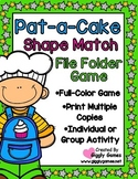 Pat-a-Cake Shape Match File Folder Game