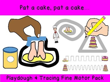 Pat a cake unique PLAY DOUGH & TRACING prek preschool k12 SPED OT