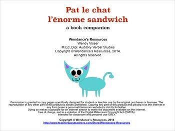Pat le Chat - l'énorme sandwich - book companion