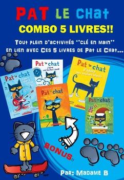 Pat le chat COMBO 5 LIVRES