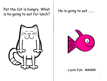 Pat the Cat's Lunch- Interactive Book & Coloring Book.  Pronouns/Sentences