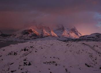 Patagonia Sunrise Mountain Photograph