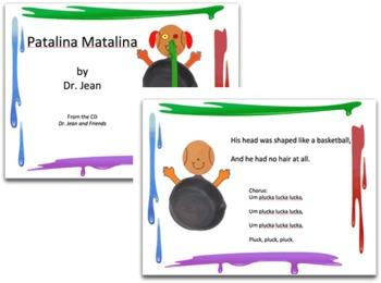 Patalina Matalina Printables, Power Point - Dr. Jean