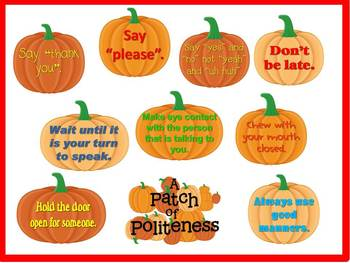 Patch of Politeness Character Education Bulletin Board