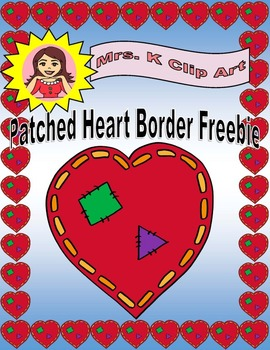 Patched Hearts Border FREEBIE