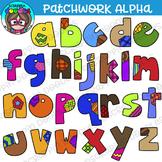 Patchwork Alphabet Lower Case Clipart {Scrappin Doodles Clipart}