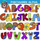 Patchwork Alphabet Upper Case Clipart {Scrappin Doodles Clipart}