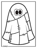 Patchwork Ghost Coloring Page