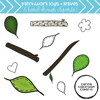 Patchwork Logs and Leaves (+ FREEBIE) - Personal and Commercial Use