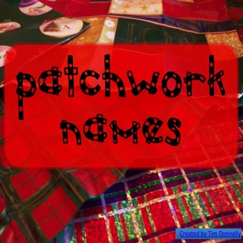 Art Activity - Patchwork Names