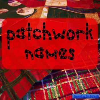 Art Activity - Patchwork Names