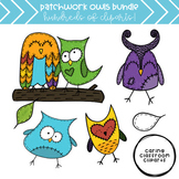 Patchwork Owls *BUNDLE* - Personal and Commercial Use
