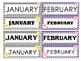 Patchwork Owls Calendar - Month & Days of the Week Headers