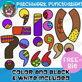 Patchwork Punctuation FREEBIE Clipart {Scrappin Doodles Clipart}