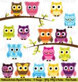 Patchwork Quilt Owls Clipart Clip Art