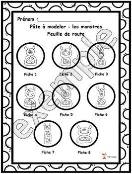 Pâte à modeler: les monstres