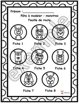 Pâte à modeler: monstres