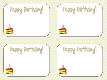 Patel Chevron Birthday Cards