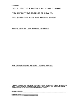 Patent Application for younger students