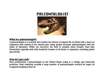 Pateontologist Career