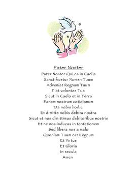 Pater Noster: THe Lord's Prayer in Latin