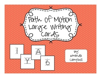Path of Motion Large Writing Cards