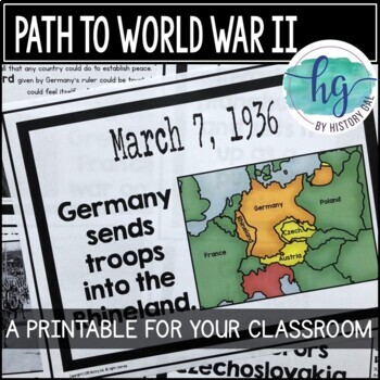 Events Leading to World War II Timeline