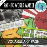 Events Leading to World War II (World War 2) Coloring Page and PowerPoint