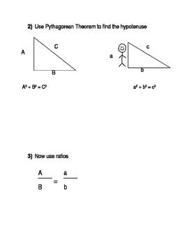 Pathag and ratios  Experiment Flag Pole