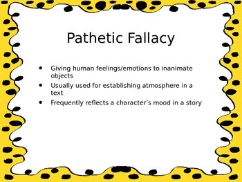 Pathetic Fallacy Explanation, Examples, and Activity