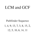 Pathfinder Activity: LCM and GCF