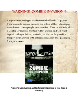 Pathogen writing prompt (Zombie, Walking Dead related)