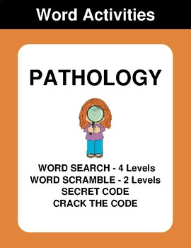 Pathology - Word Search Puzzle, Word Scramble,  Crack the Code