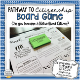 Pathway to Citizenship Board Game | Naturalization Process Game for Civics!